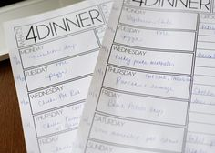 how to plan meals for a month great article