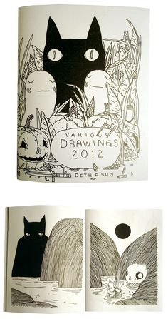 Deth P. Sun - Various Drawings Zine - Click Image to Close