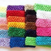 crochet elastic head bands for DIY projects! :)
