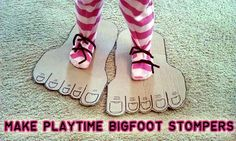 Haha I love this - Recycled Playtime Craft: Stomping Feet - - Pinned by @PediaStaff – Please Visit ht.ly/63sNtfor all our pediatric therapy pins