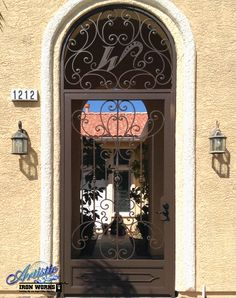 Coco - Wrought Iron Entryway with CNC Plasma Cut Initial - Model: CE0353