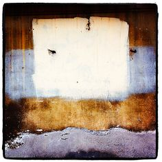 """""""Homage to Rothko""""...   © Roger Minick 2012... A wall abstract from Florence..."""