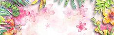 O aquarela de Flores pintadas à mão