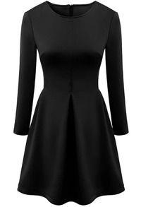 49dbfe3d5f7 Black Long Sleeve Slim Knit Bodycon Dress Black Dresses Online