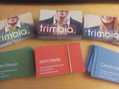 New business cards for the Trimbia business developers #trimbia