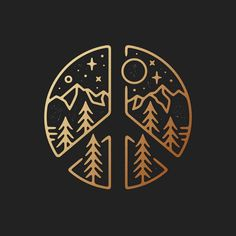 This but with the Star Trek sigil and a spacey background might be cool Paz Hippie, Peace Sign Tattoos, Illustration, Logo Design Inspiration, Doodle Art, Easy Drawings, Body Art Tattoos, Art Inspo, Line Art