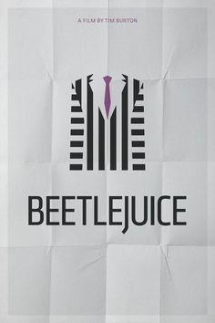minimal movie poster chicquero beetlejuice