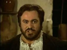 "The ""king"" Luciano Pavarotti as Il Duca di Mantova in the screen movie ""Rigoletto"" (1983) based on Giuseppe Verdi's opera with the same name (1851)."
