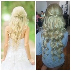 bridal hair. long hair. extensions. Blonde. @Christina Childress Snyder