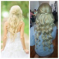 bridal hair. long hair. extensions.