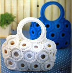 comparto diagrama de bolsas hermosas a crochet