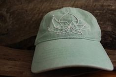 Hand embroidered Lotus Hat   Womens Hat   Minimalist Design   Dad Hat    Hiker Style f01da1617836