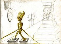 Prisão conceitual, ababelado conceitual… Estudo em desenho para linogravura colorido digitalmente # 21/04/2002 - 14:28 Florianópolis - SCBrasil