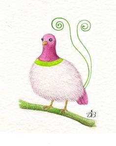 cute fluffy bird :)