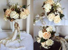 Somon vintage düğün buketi