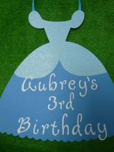 Cinderella Princess Birthday Sign.