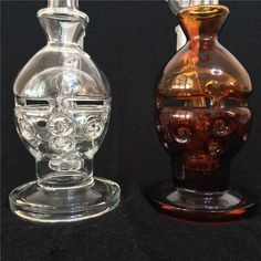 2015 Skull Style Glass Bongs Water Pipes Bongs Oil Rigs Smoking Pipes Pure And Amber Color Bongs With Honey Bucket 18.8mm Joint Online with $40.47/Piece on Glassfashion's Store | DHgate.com
