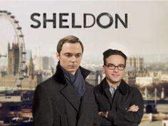 hahahaha sherlock meets sheldon. hilarious since i described sherlock as sheldon + the doctor.