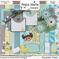 FREE Squeaky Clean by Anita Wells designs