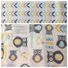 Owls Boutique Crib Nursery Bedding Set