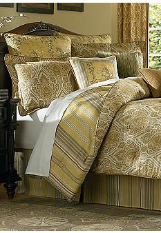 colonial home textiles gold & gray shana five-piece reversible
