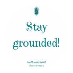Stay grounded!  Spen