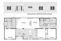 3 Bedroom Floor Plan: B-6017 - Hawks Homes   Manufactured & Modular   Conway & Little Rock Arkansas