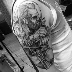 """Tatuagem feita pelo incrível artista <a href=""""http://instagram.com/fredao_oliveira."""">@fredao_oliveira.</a> Temos que confessar que somos muito fãs d ..."""