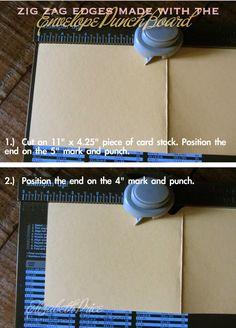 Big News! - Envelope Punch Board - Make Zig Zag edges - Elizabeth Price - June 6/14