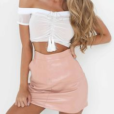 16ce2eaf20b745 Trendy Chic Summer Night Outfit Ideas for Women 2018 - Hot Off the Shoulder  Mesh Crop. Glamanti Beauty