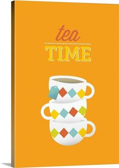 """Tea Time"" by Kate Lillyson via @greatbigcanvas available at GreatBIGCanvas.com."