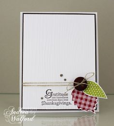 CAS Gratitude Stampin' Up! Card by Andrea Walford