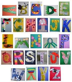 ABC Crafts aka Letter of the week ( this was originally pinned to another site) every single one was made by us.