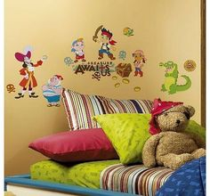 RoomMates Childrens Repositonable Disney Wall Stickers Jake and the Never Land Pirates, Multi-Color No description (Barcode EAN = 0034878302294). http://www.comparestoreprices.co.uk/childrens-bedroom-furniture/roommates-childrens-repositonable-disney-wall-stickers-jake-and-the-never-land-pirates-multi-color.asp