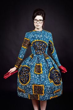 Designer African Wax Print Dress- Made-to-Measure