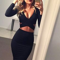 Long sleeve winter women sexy Criss nigh club wear bandage bodycon party dresses white black red women clothing - Alternative Measures -  - 1