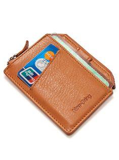 Leather Men, Leather Wallet, Rfid Wallet, Minimalist Fashion, Money Clip, Bring It On, Card Holder, Zipper, Cards