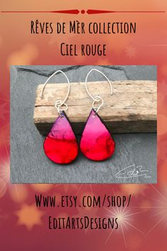 Schmuckunikate handmade in Austria, besonders farbenfroh, einzigartiger Blickfang, Get uniqued and stand out with this Beautiful Pieces of Art, red and purple earrings Purple Earrings, Drop Earrings, Austria, Etsy Seller, Art Pieces, Trending Outfits, Unique Jewelry, Handmade Gifts, Red