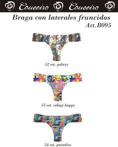Braga con laterales fruncidos.