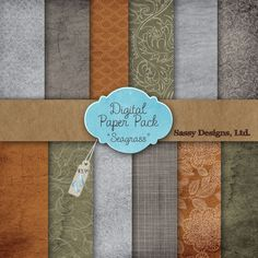 Seagrass Digital Paper Pack