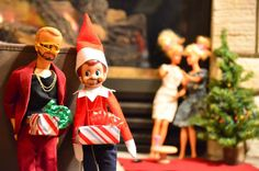 elf on a shelf gone bad- this was part of a very funny contest. maybe i can enter next year?