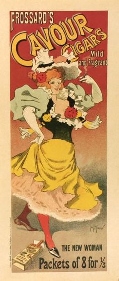 Frossard's Cavour Cigars (from Maitres de l'Affiche), 1896 by Georges Meunier