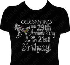 Birthday Shirt FIFTY FABULOUS 50th Celebrating Anniversary Birthday Party Shirt Happy 50th B-day Turning 50 Rhinestones Bling Tee