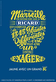 #ricard #affiche #pastis #typography