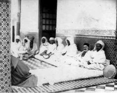 Shaykh Ahmad Al-Alawi with fuqara.  #Islam #Sufism #Spirituality #Mysticism #God #Religion #saint #Wali