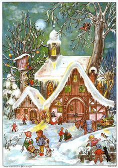 """Advent Calendar """"Playing in the winter"""""""