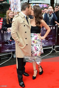 Tom Hardy and Charlotte Riley attend the European premiere of The Dark Knight Rises at The BFI IMAX on July 18, 2012 in London, England.