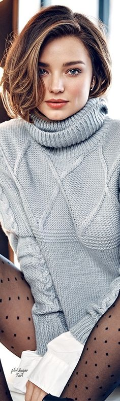 Would love to make a sweater like this. Miranda Kerr - Elle Canada