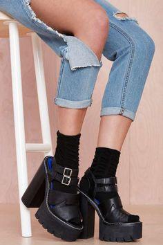 Scrunch Time Socks - Black - Accessories