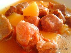 Cerdo con piña http://cocinadelapepa.blogspot.com.es/2013/06/cerdo-con-pina.html